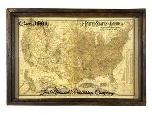 vintage USA map