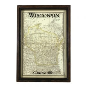 Vintage Wisconsin map
