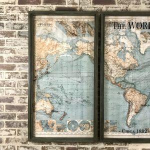 Three Piece World Map