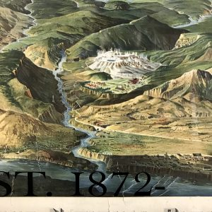 Vintage Yellowstone map