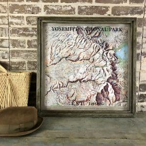 Vintage Yosemite Map