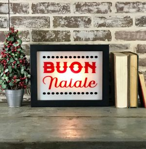 Holiday Lighted Sign - Buon Natale