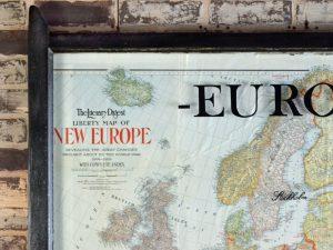 Large Vintage Europe Map