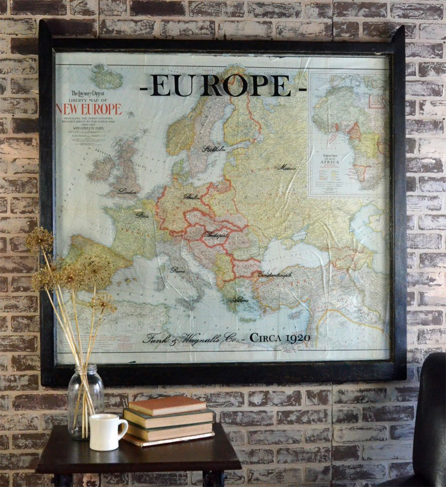 Large Vintage Europe Map Vintage European Map S - Vintage europe map poster