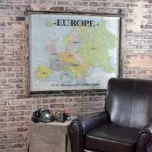 Vintage map of Europe art
