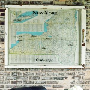 Vintage New York State Wall Map