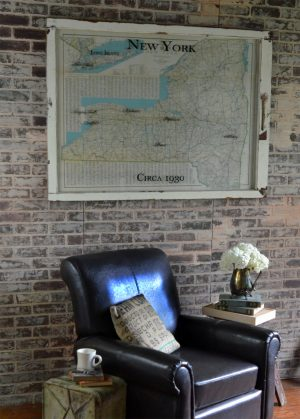 Vintage New York State wall map - circa 1930
