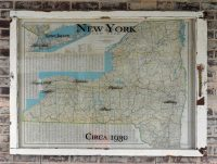 vintage New York state wall map - circa 1930