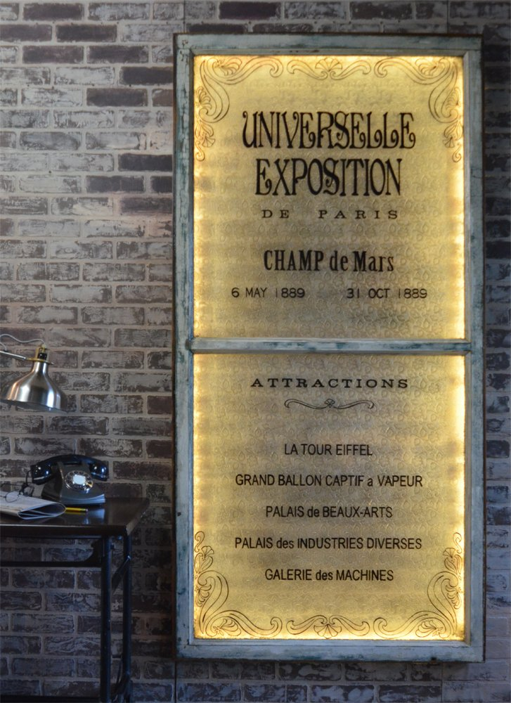 Paris Exposition Themed Artwork with LED back light