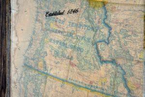 Vintage USA map art - three piece 1938 USA Dept of Interior map set