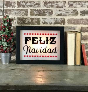 Holiday Lighted Sign - Feliz Navidad