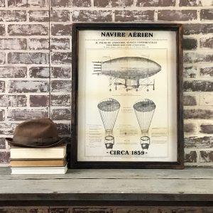 French Airship drawing