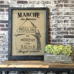 French Grain Sack Artwork