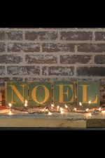 Hinged wood holiday signs