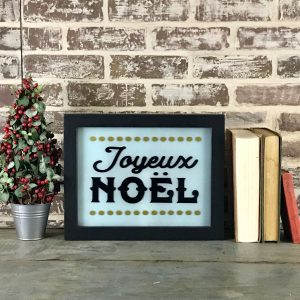 holiday lighted sign - Joyeux Noel unlit
