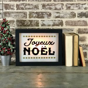Holiday Lighted Sign - Joyeux Noel