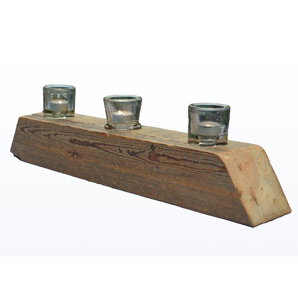 Natural barn beam candle holder for Natural wood beams