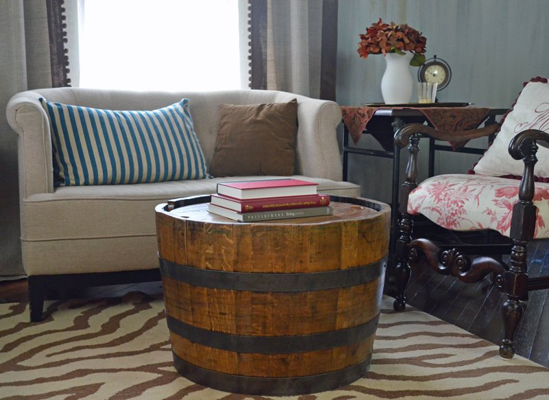 Wine Barrel Table Whiskey Barrel coffee table