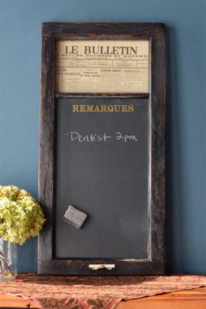 French style chalkboard