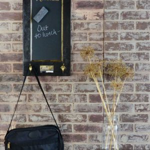 vertical chalkboard with hooks