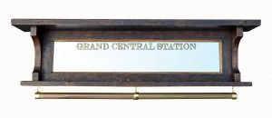 Grand Central Station coat rack with rail