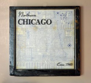 sample vintage map window art - Chicago map (2)