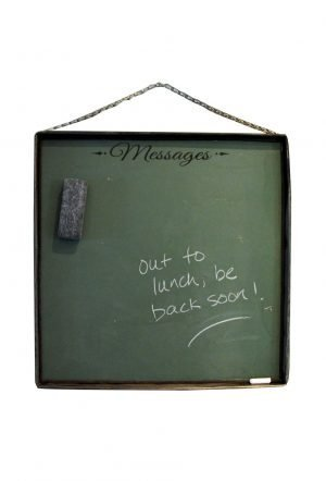 Unique metal frame chalkboard