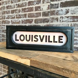 Lighted Louisville Sign