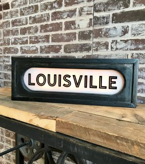 Lighted Louisville Sign