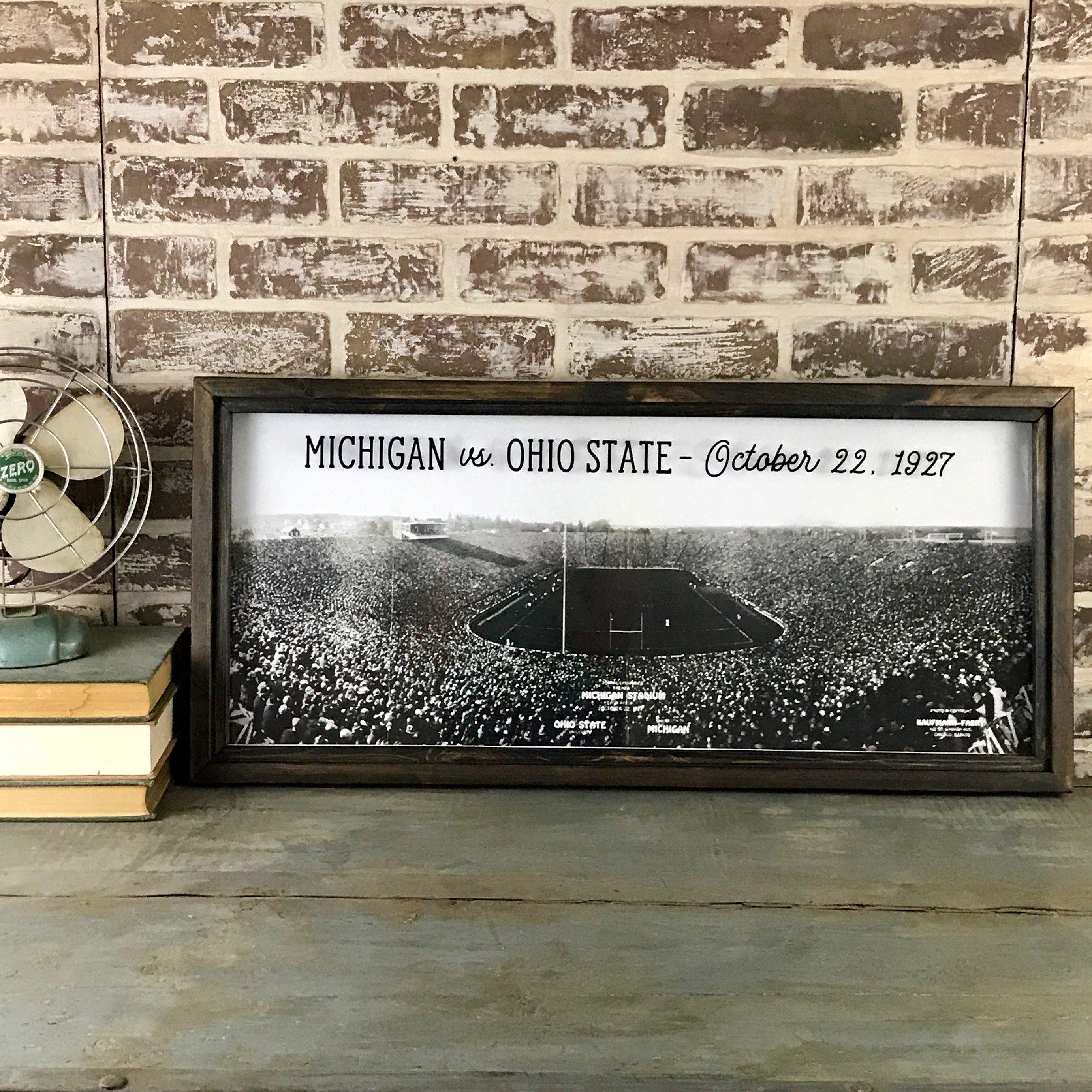 Vintage Michigan Football Game Photo At Teh Big House