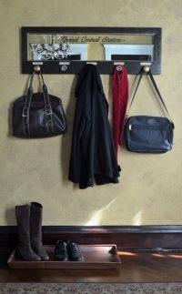 mirrored wall mount coat rack