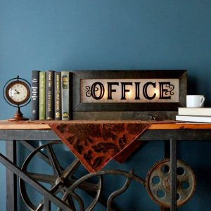 vintage style lighted office signs