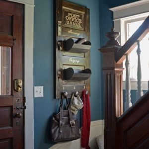 Post Office Home Organizer, vertical stained option