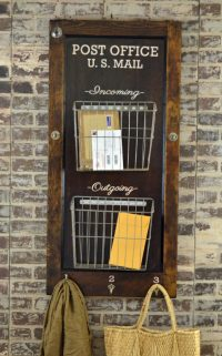 wall mounted mail holder