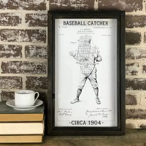 vintage baseball catcher patent