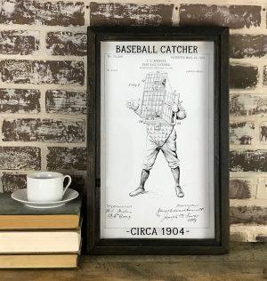 vintage baseball catcher patent