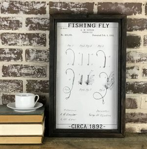 vintage fishing fly patent