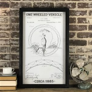 vintage one wheeled vehicle patent