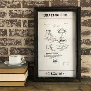 vintage ice skate patent drawing