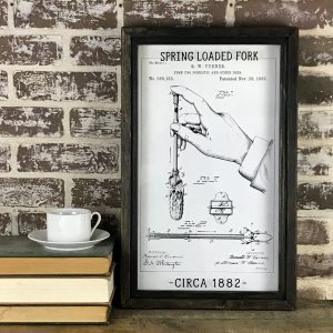 vintage spring loaded fork patent