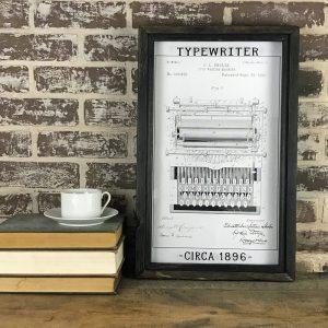 vintage typewriter patent