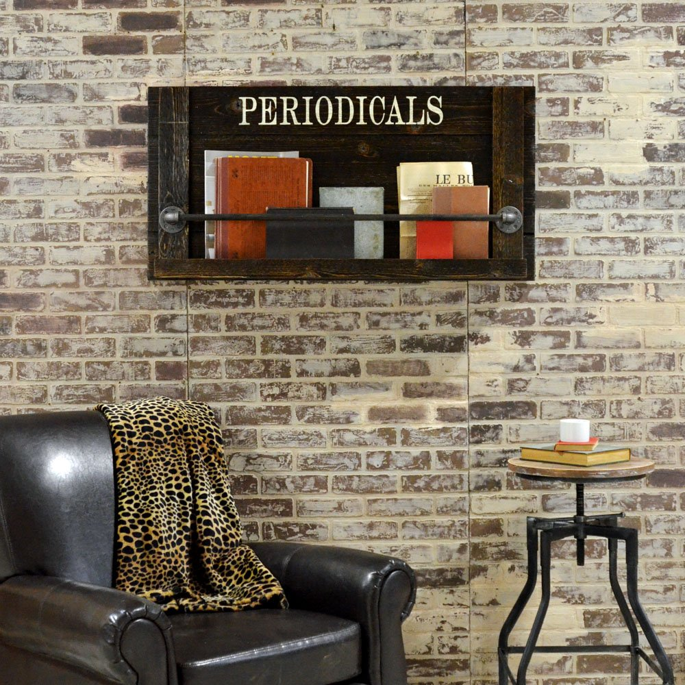Wall mount periodicals rack