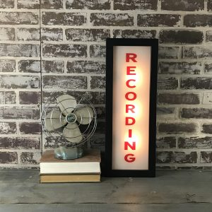 lighted recording sign