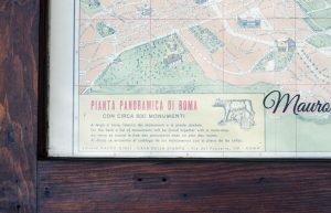 Vintage Rome Monument Map