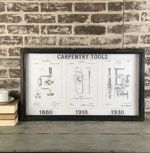 carpentry vintage patent art