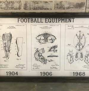 football vintage patent art