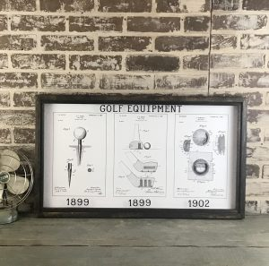 golf vintage patent art