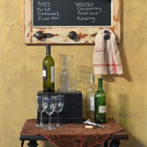 Vintage Door Chalkboard with 3 knobs, vintage cellars option