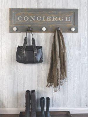wall mounted coat rack with doorknobs