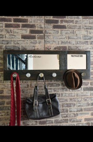 His and Hers coat rack with mirror